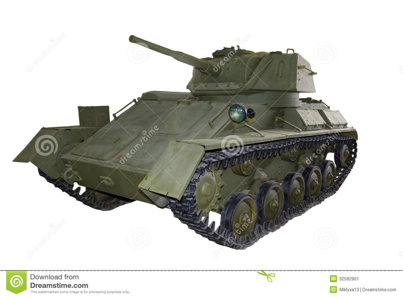 Russian Light Tank T80 Stock Image - Image: 32592901