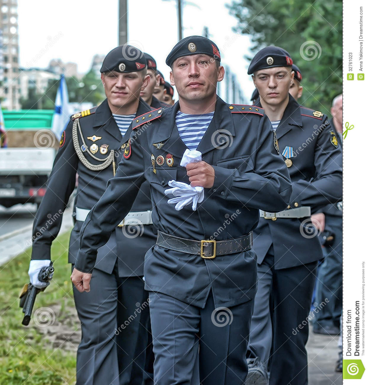 Russian Marines in uniform editorial stock photo. Image of ...