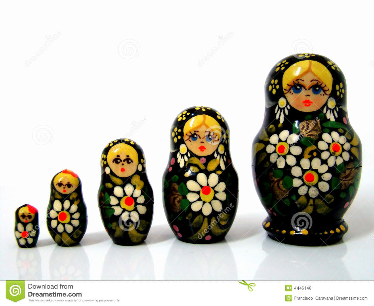 Russian Matrioska Royalty Free Stock Image Image 4446146