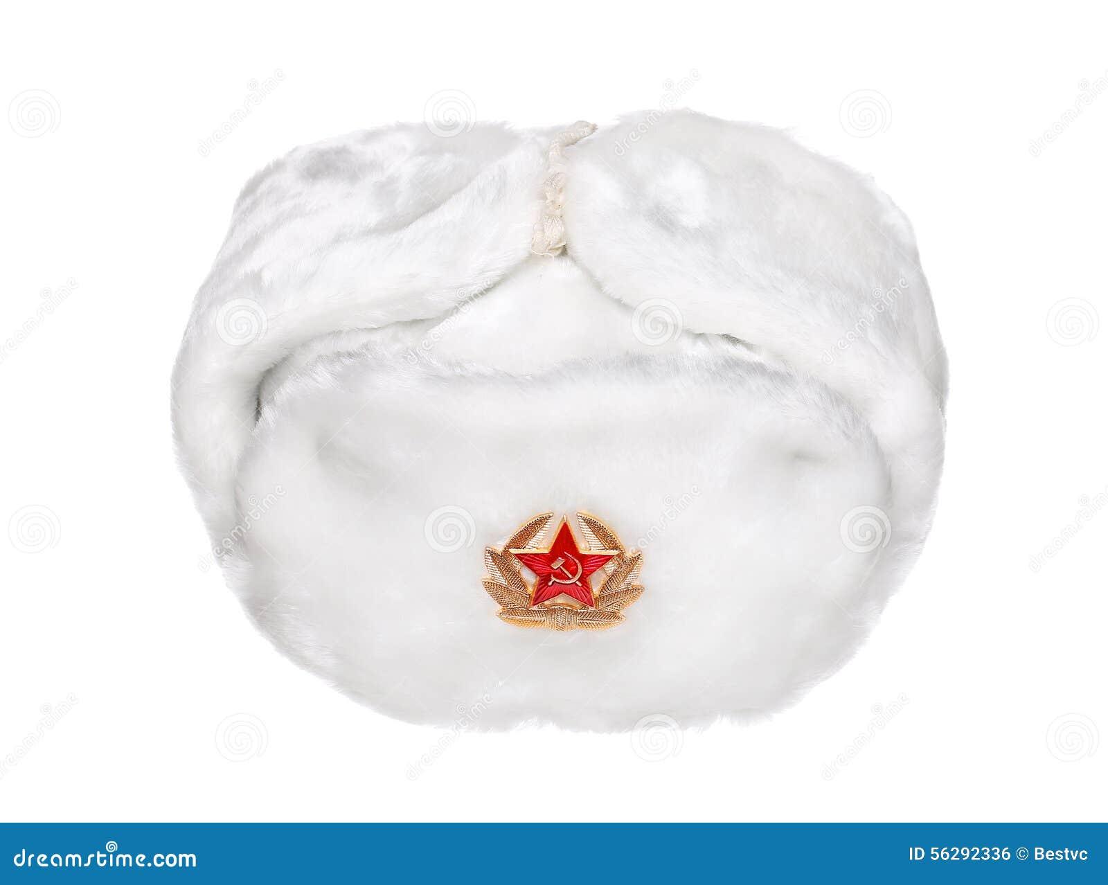 Russian Military Army Hat Ushanka Isolated On White Stock Photo ... e76c789109c
