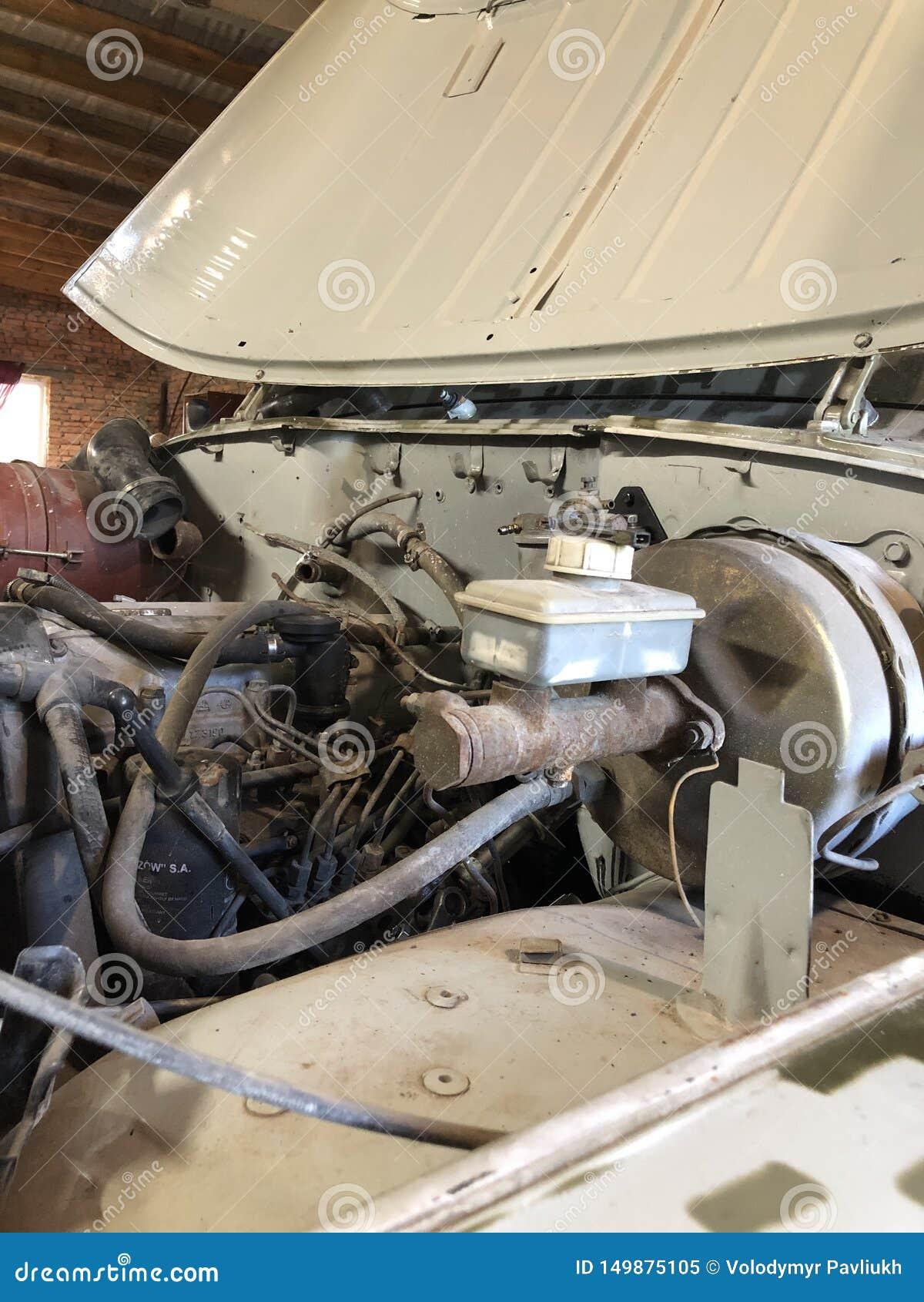 Repair of the old UAZ motor in 2003, in the thrown garage