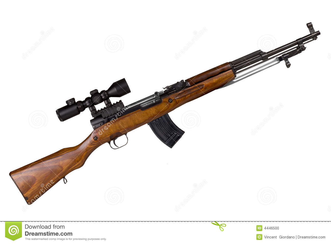 Russian Military Rifle Stock Photo - Image: 4446500