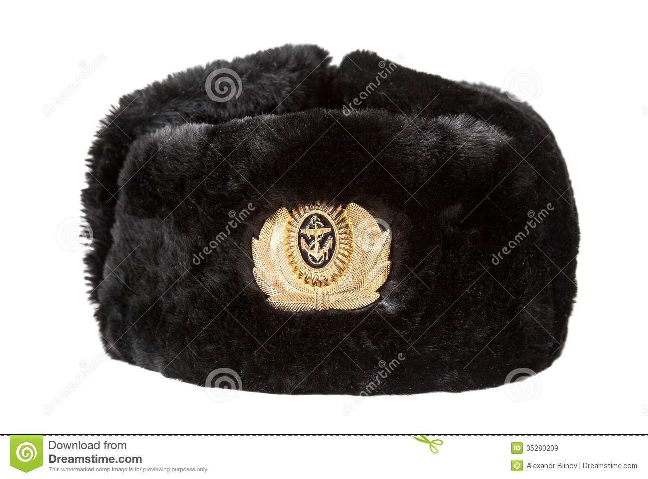 1734b0c2bb680 Russian Navy Officer s Winter Hat Stock Image - Image of survival ...