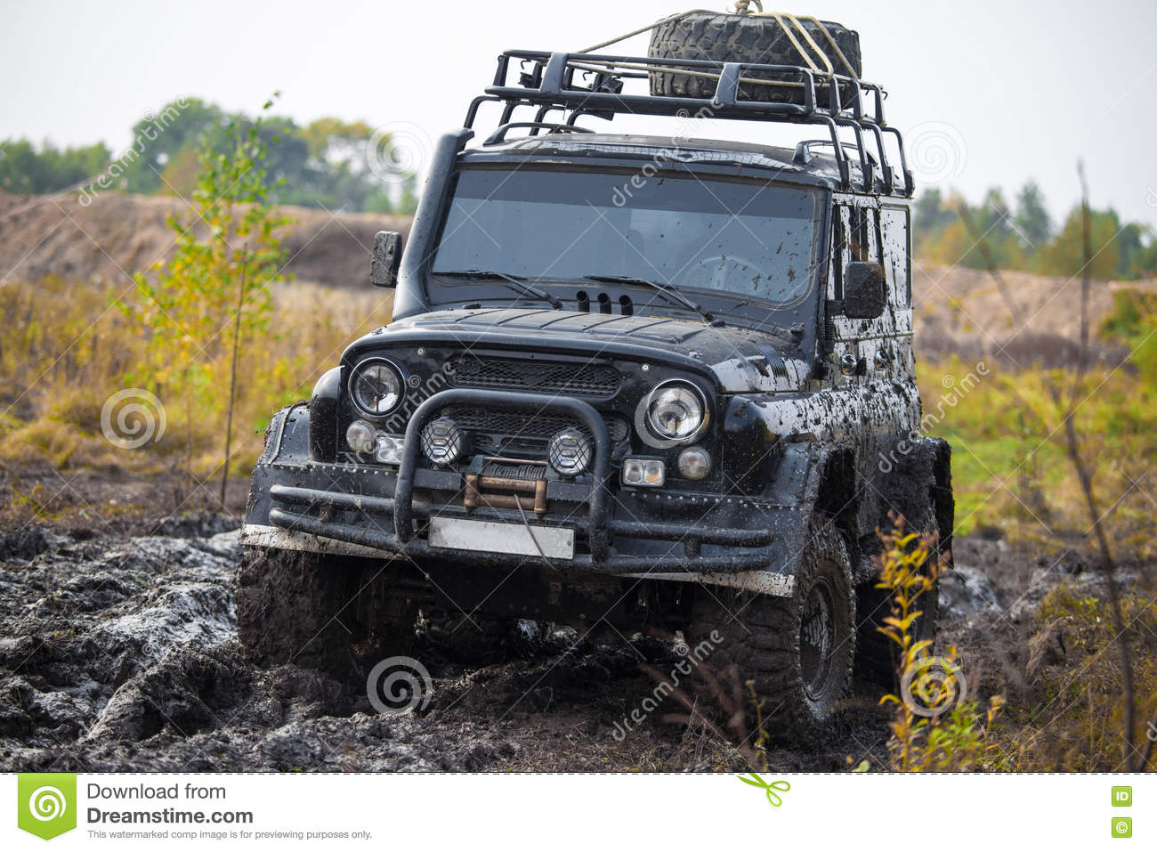 russian off road car uaz in mud stock photo image of dirt snorkel 78019130. Black Bedroom Furniture Sets. Home Design Ideas