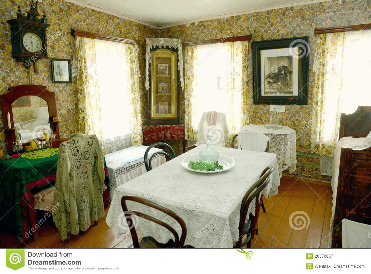 Russian old house interior editorial photography image for Old home interior pictures