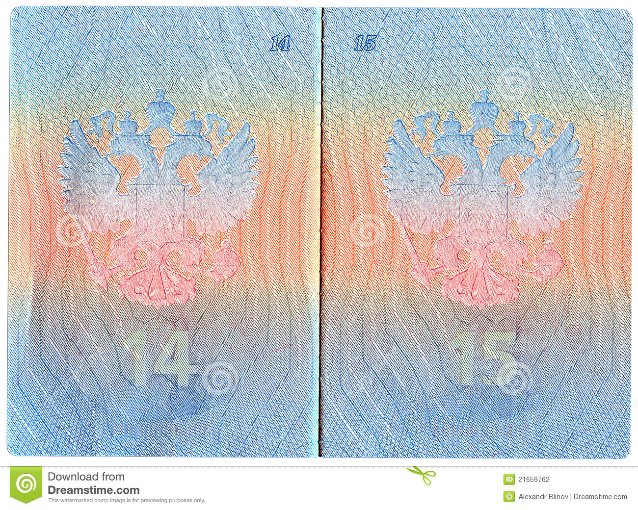 Russian Passport On White Background Stock Photography - Image ...
