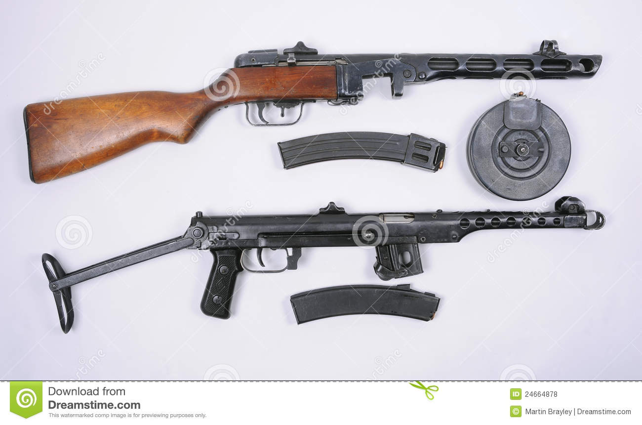 Russian PPsH 1941 And PPS 1943 Guns Royalty Free Stock Photos - Image ...