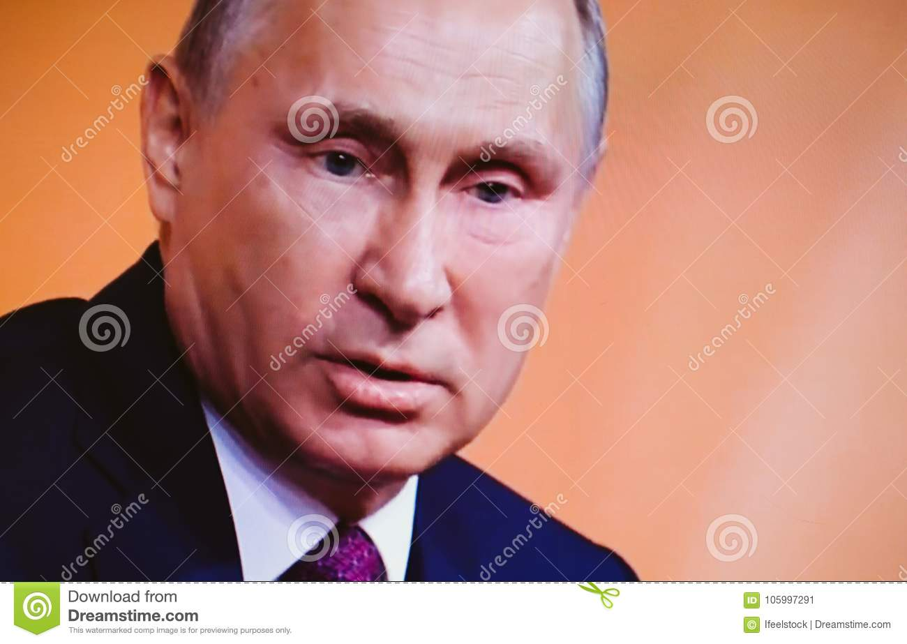 Russian President Vladimir Putin Give Final Media Q A Editorial Photo Image Of Questions Power 105997291