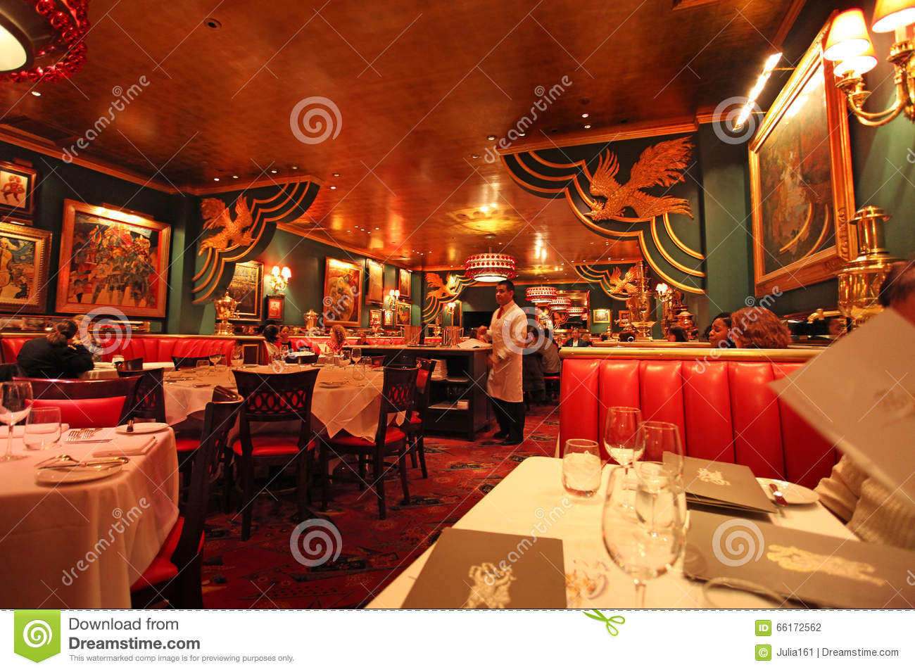Russian restaurant in new york usa editorial photography for American cuisine restaurants nyc