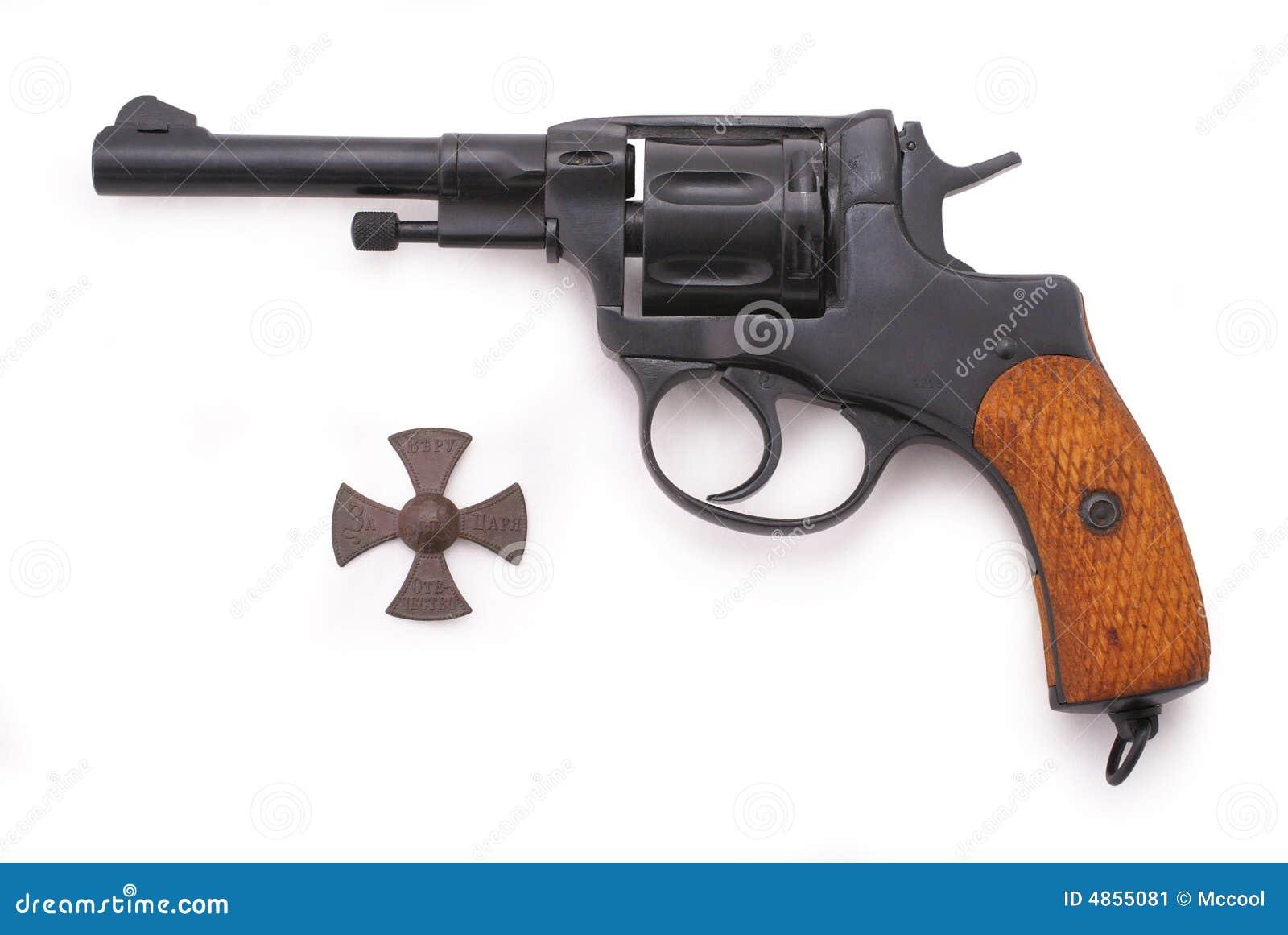 Russian revolver (Nagant M1895 revolver)