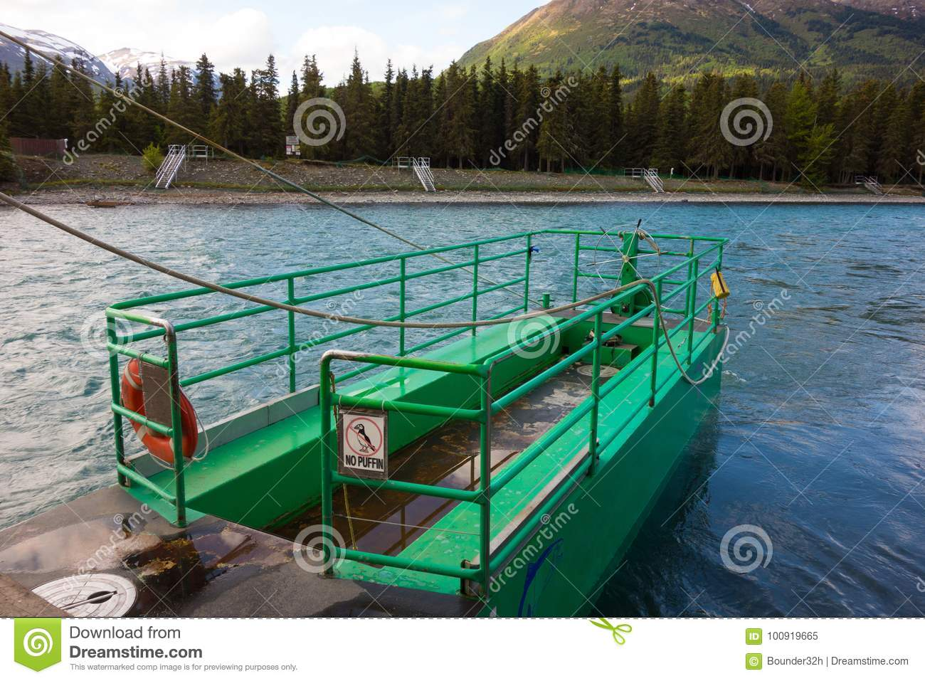 The russian river ferry stock image. Image of roped - 7