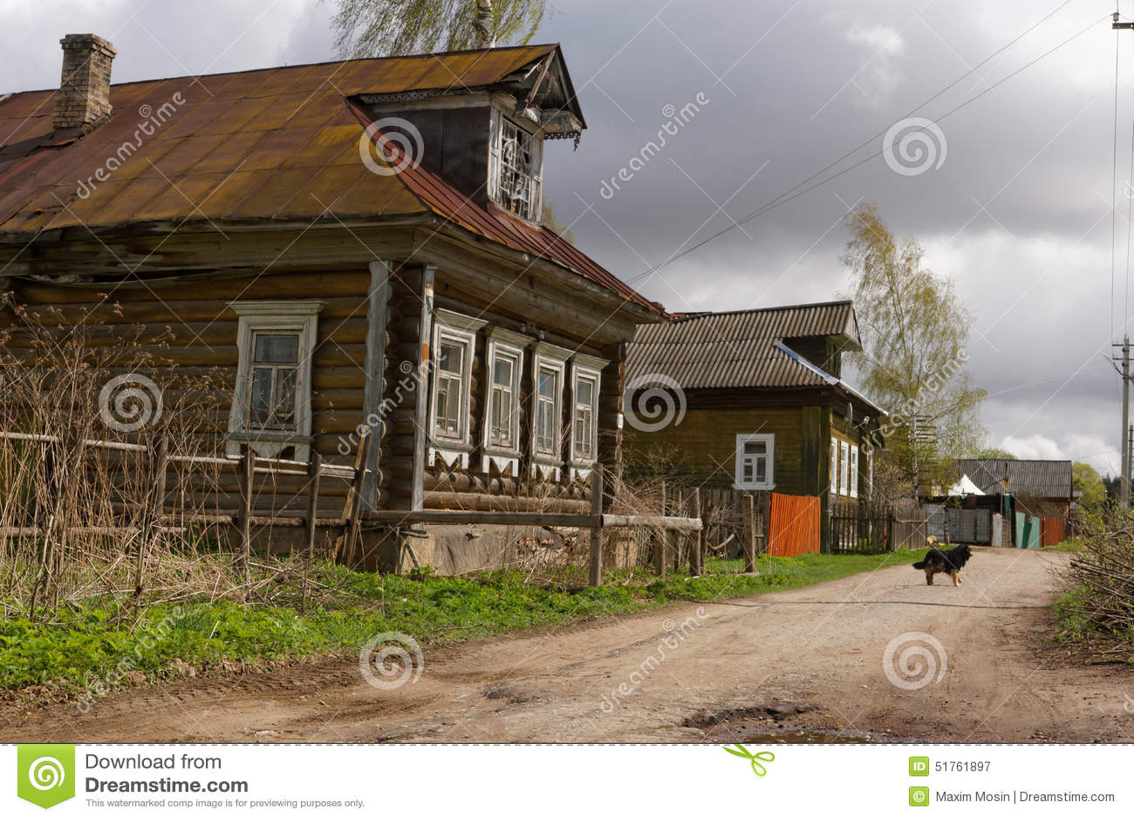 Russian Rural Street. Stock Photo - Image: 51761897