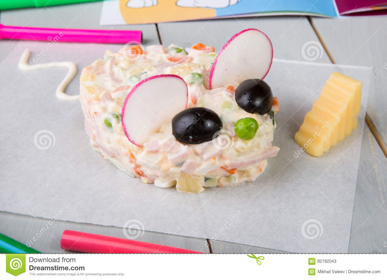 Russian salad for kids