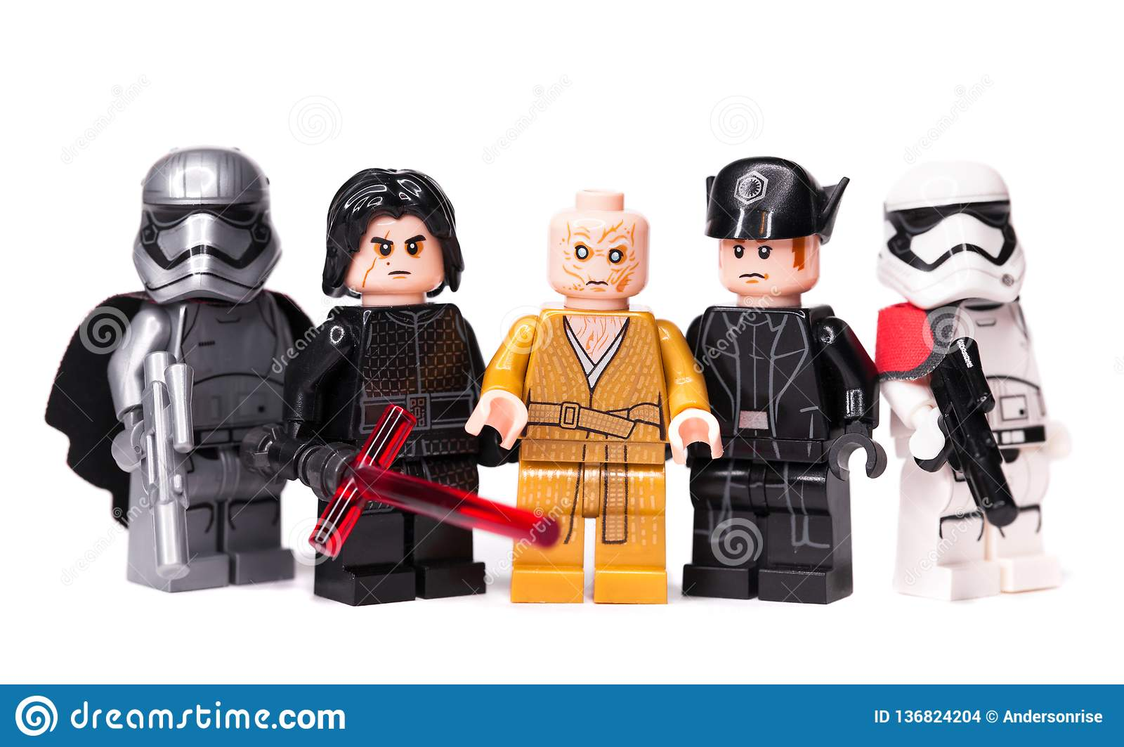 Lego star wars minifigures star wars characters episode 8 kylo ren phasma snoke hux