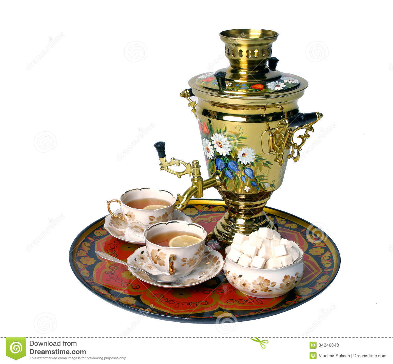 russian samovar stock image image of food retro history 34246043. Black Bedroom Furniture Sets. Home Design Ideas