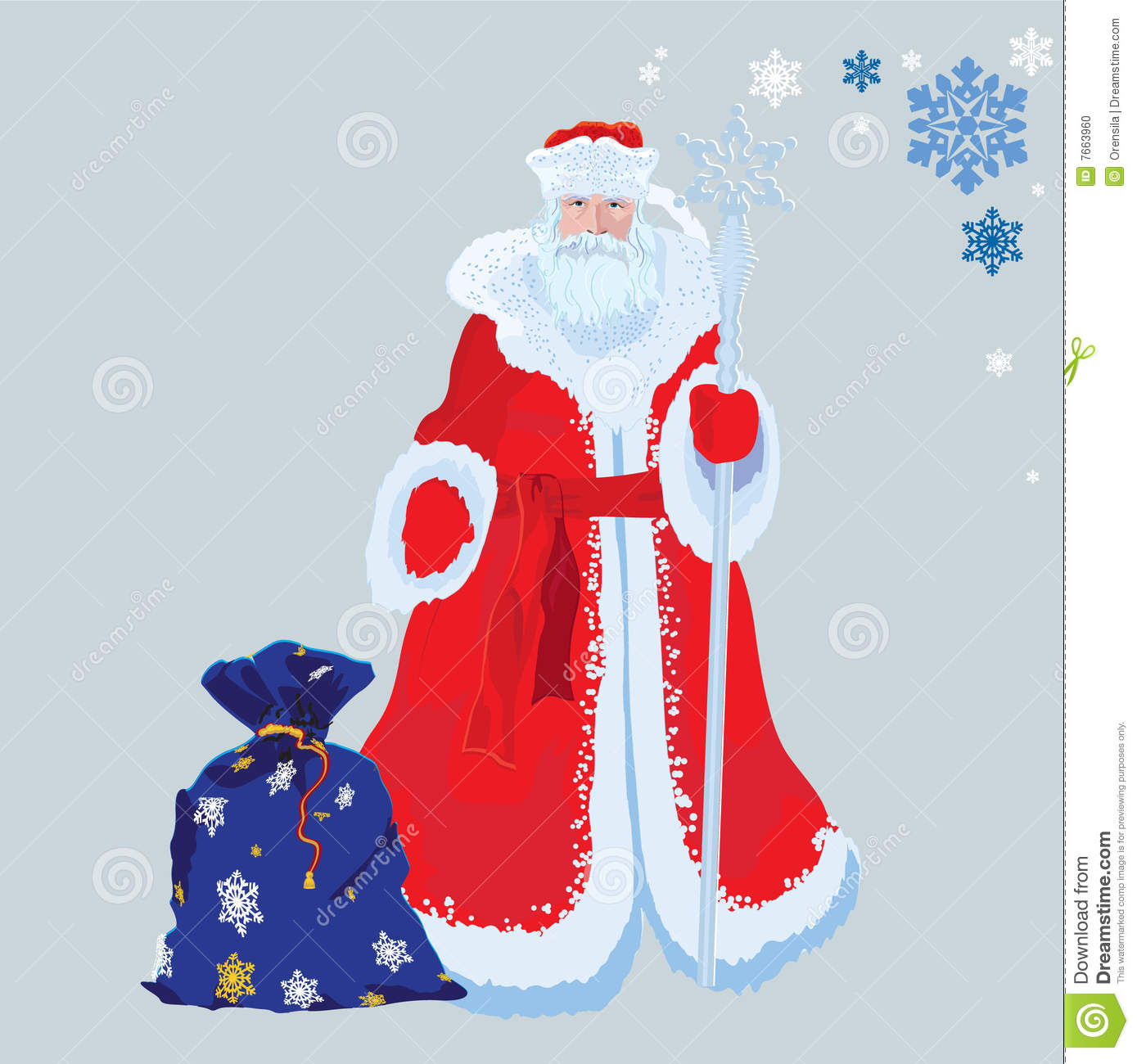 Russian santa claus stock vector illustration of