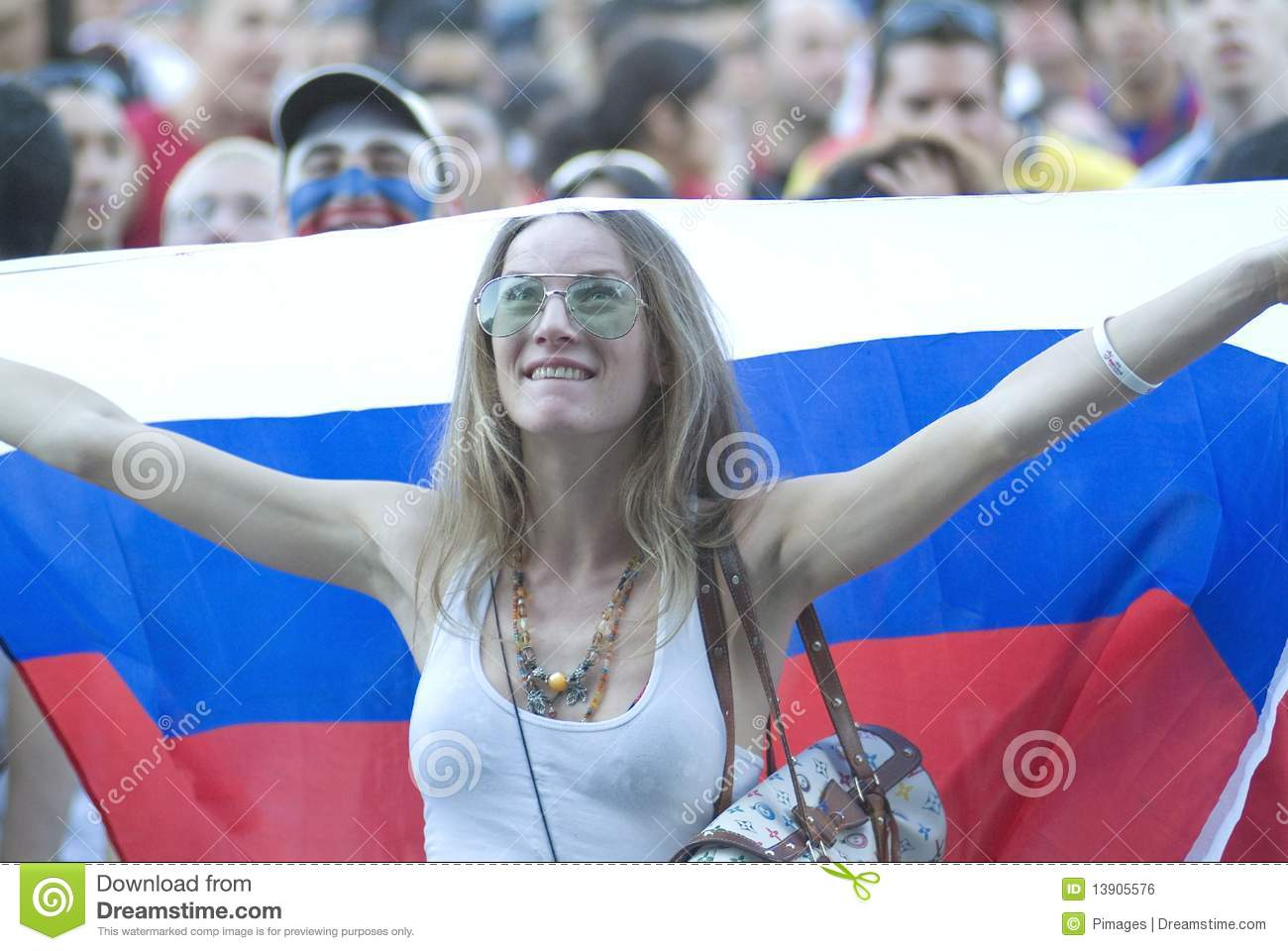 Russian soccer fan editorial photo