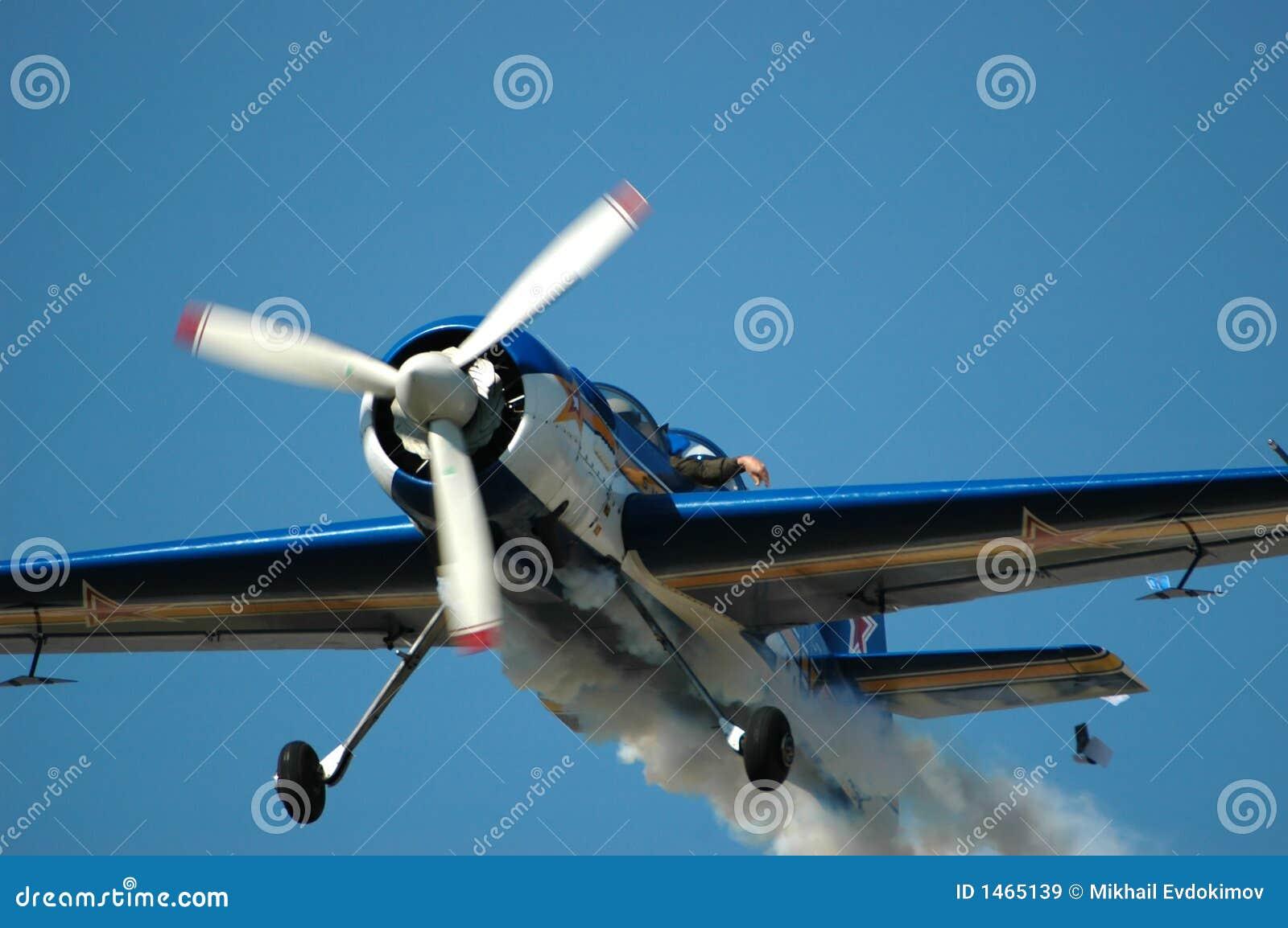 russian sports aircraft sukhoi su 29 in flight royalty free stock