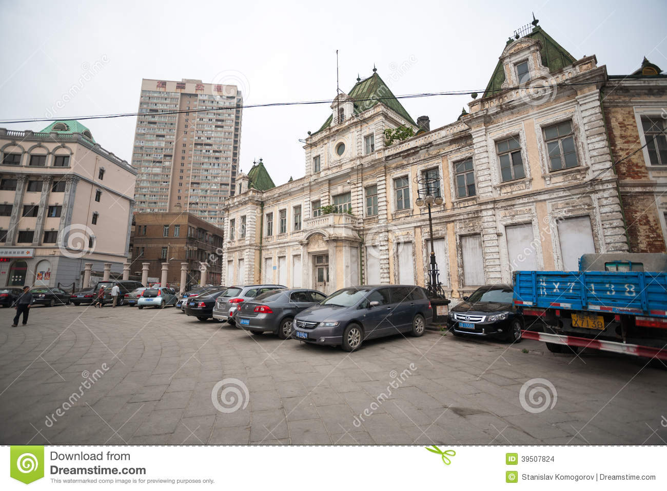 Russian street in the Dalian, China