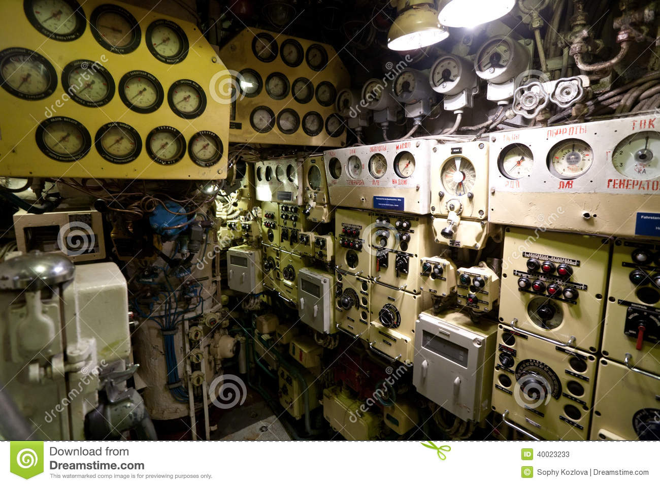 Russian Submarine Interior Stock Photo - Image: 40023233