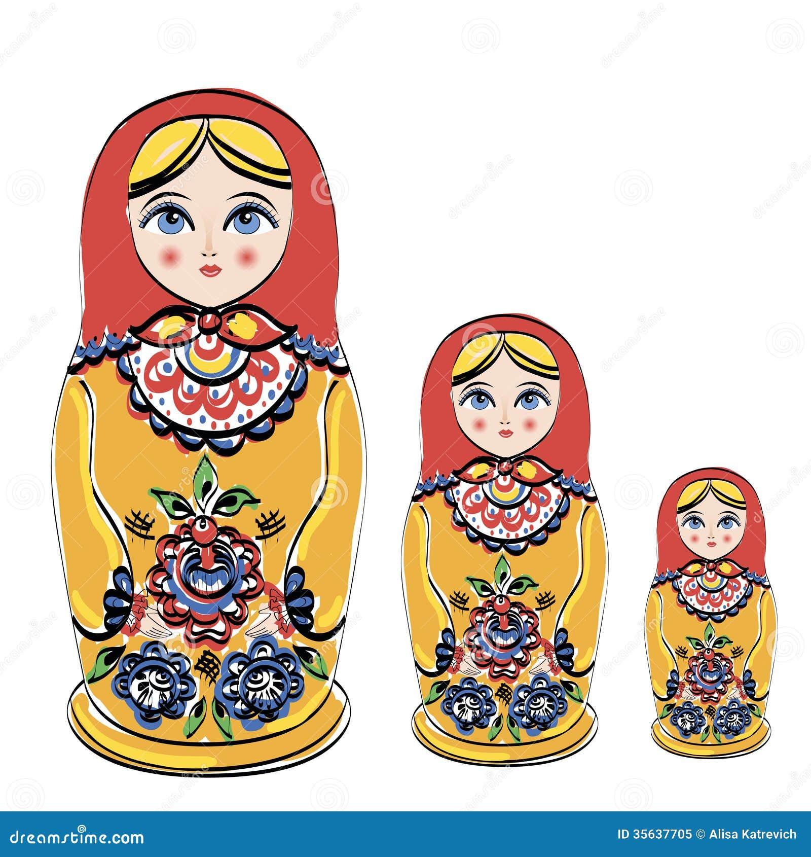 Russian Tradition Matryoshka Dolls. Stock Vector ...