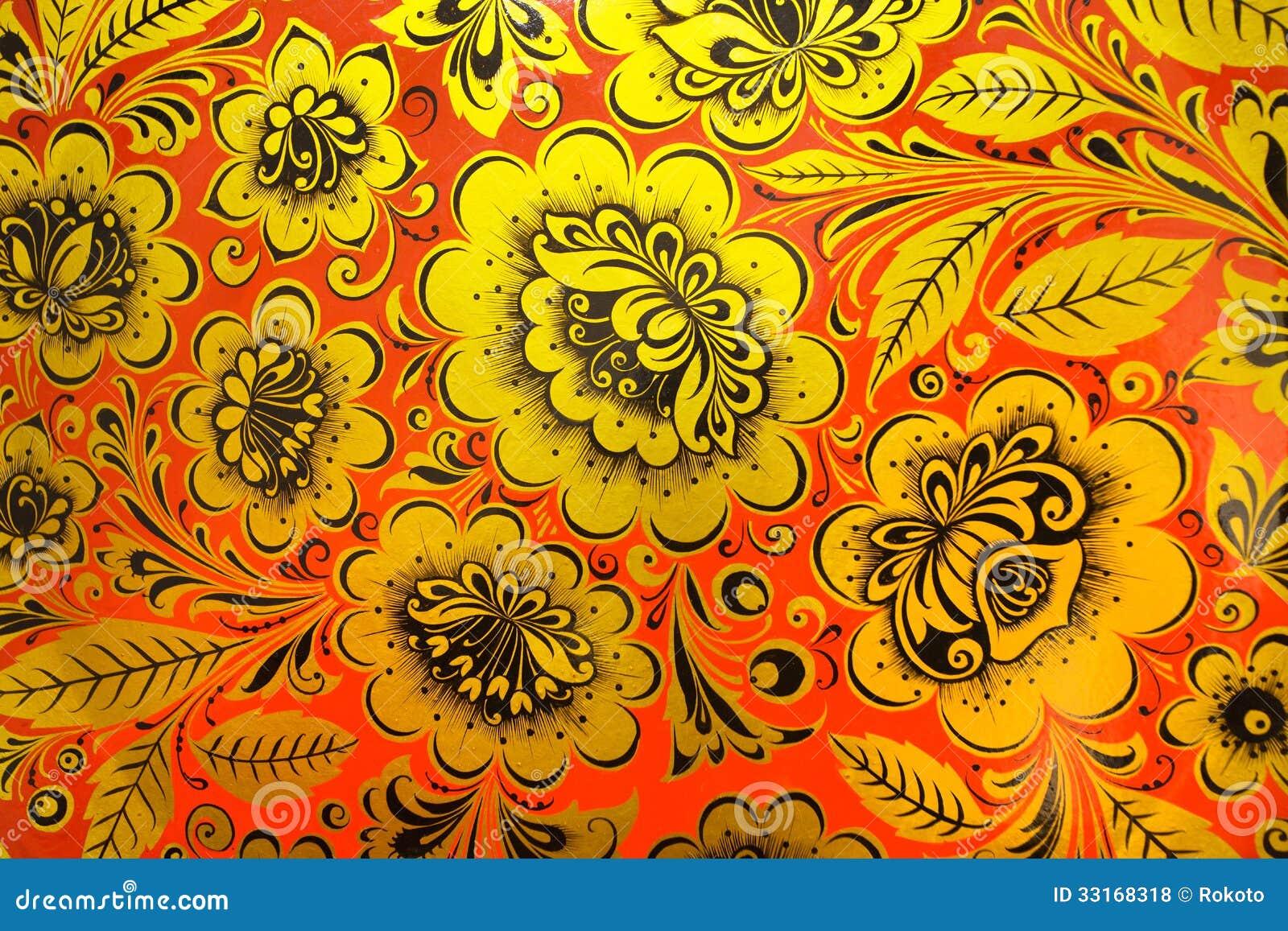 Цветные русские узоры фото