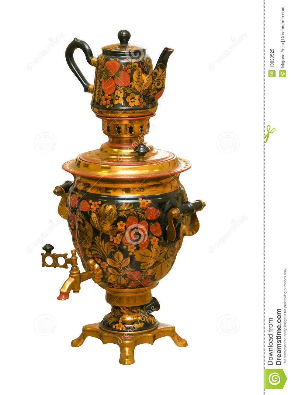 russian traditional samovar and teapot royalty stock photo russian traditional samovar and teapot