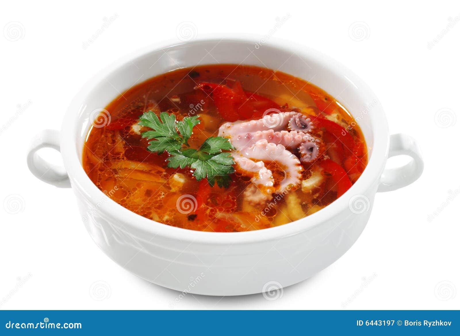 Russian and Ukrainian Cuisine - Fish Solyanka