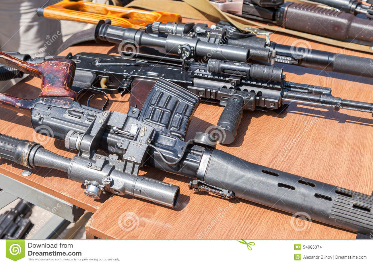 Russian Weapons. Samples Of Russian Small Arms Editorial Image ...