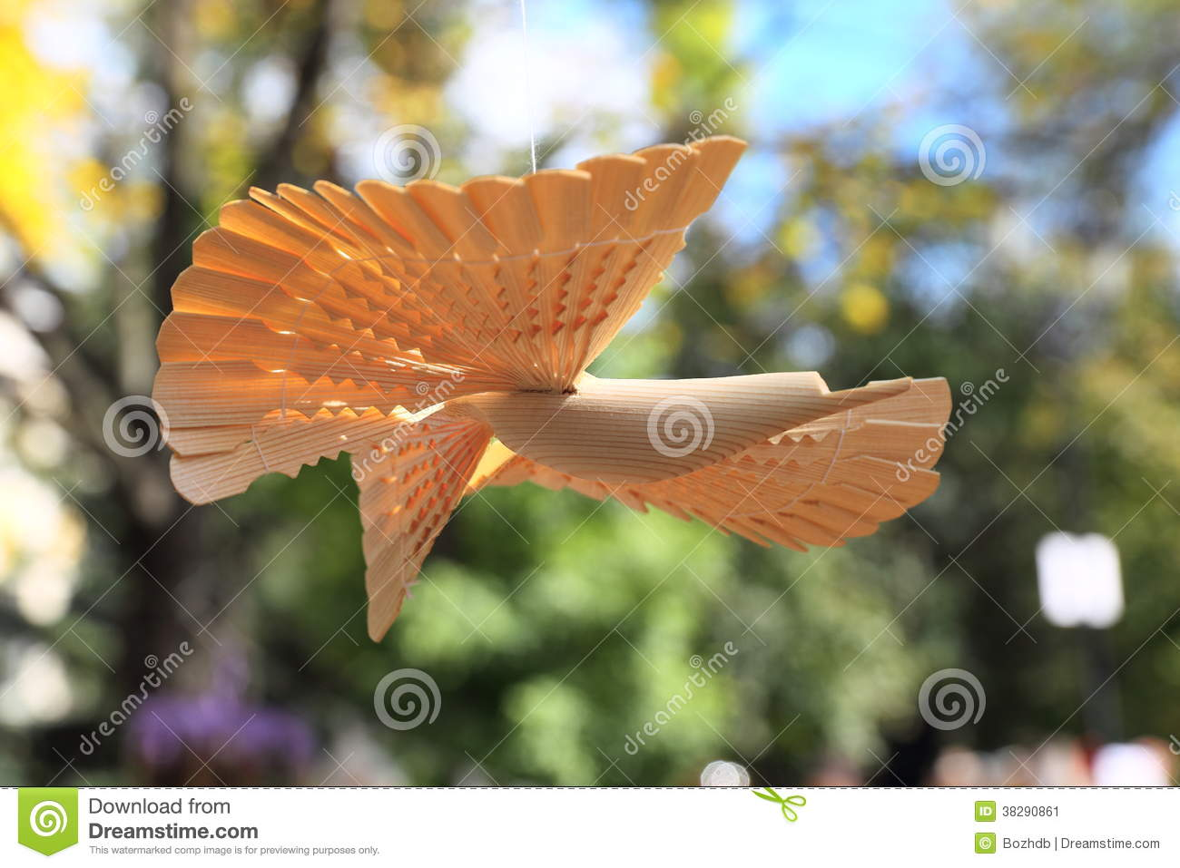 Russian wooden carved bird