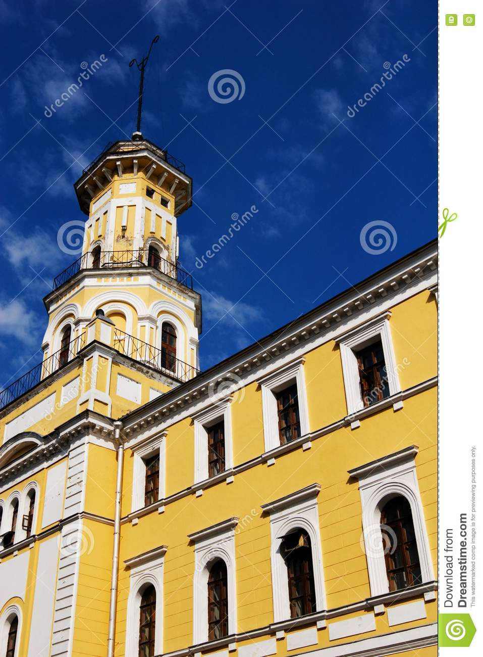 Russian xix century architecture stock photography image for Building a lookout tower