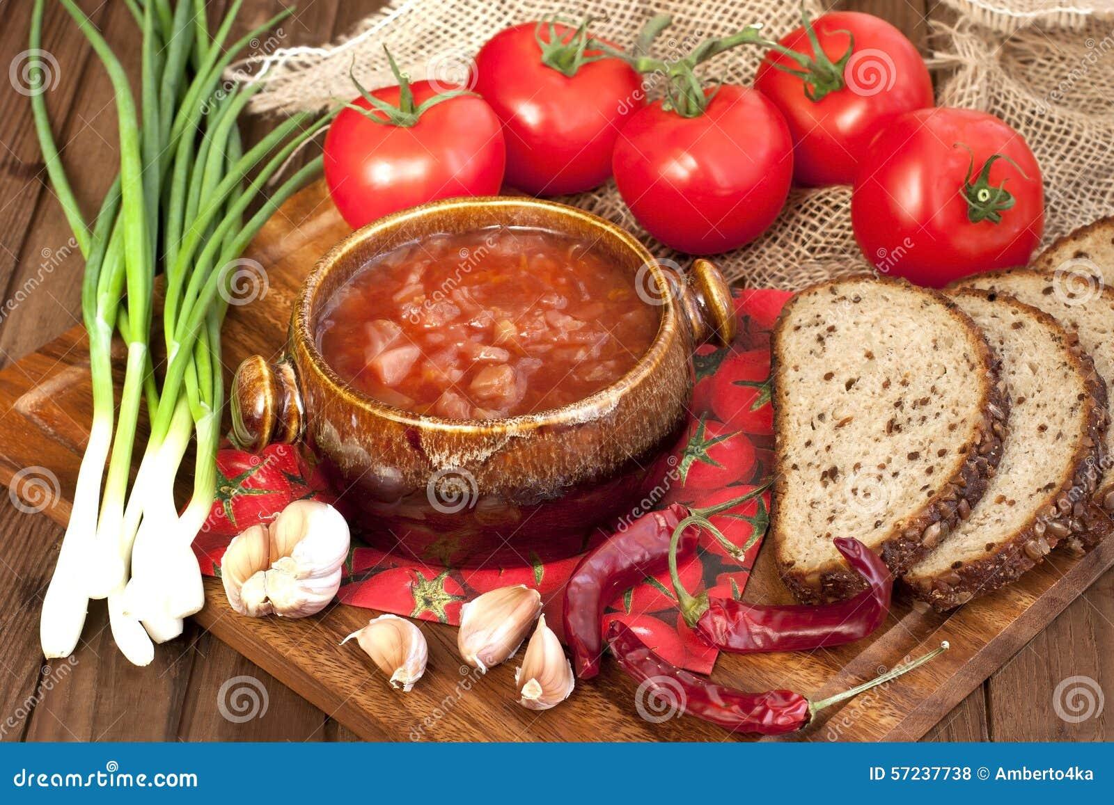 russische küche. borscht stockfoto - bild: 26104690