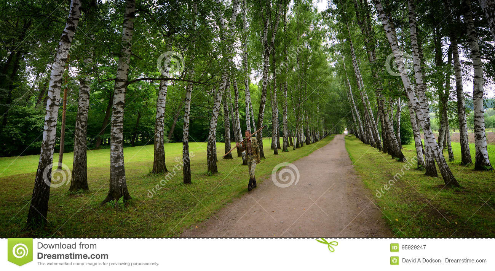 Russische Groundskeeper bij Tolstoy-het Landgoed van het Land