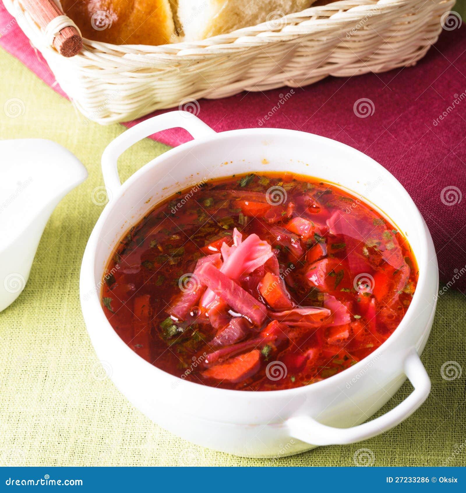 russische küche - borschtsch lizenzfreies stockbild - bild: 27233286