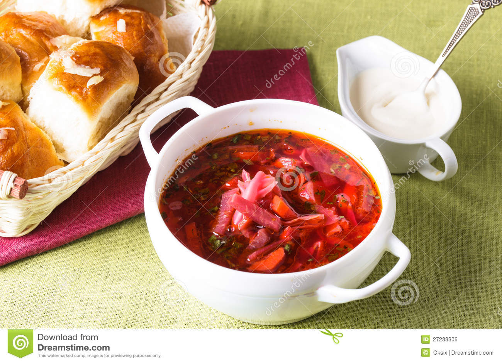 russische küche - borschtsch lizenzfreies stockbild - bild: 27233306