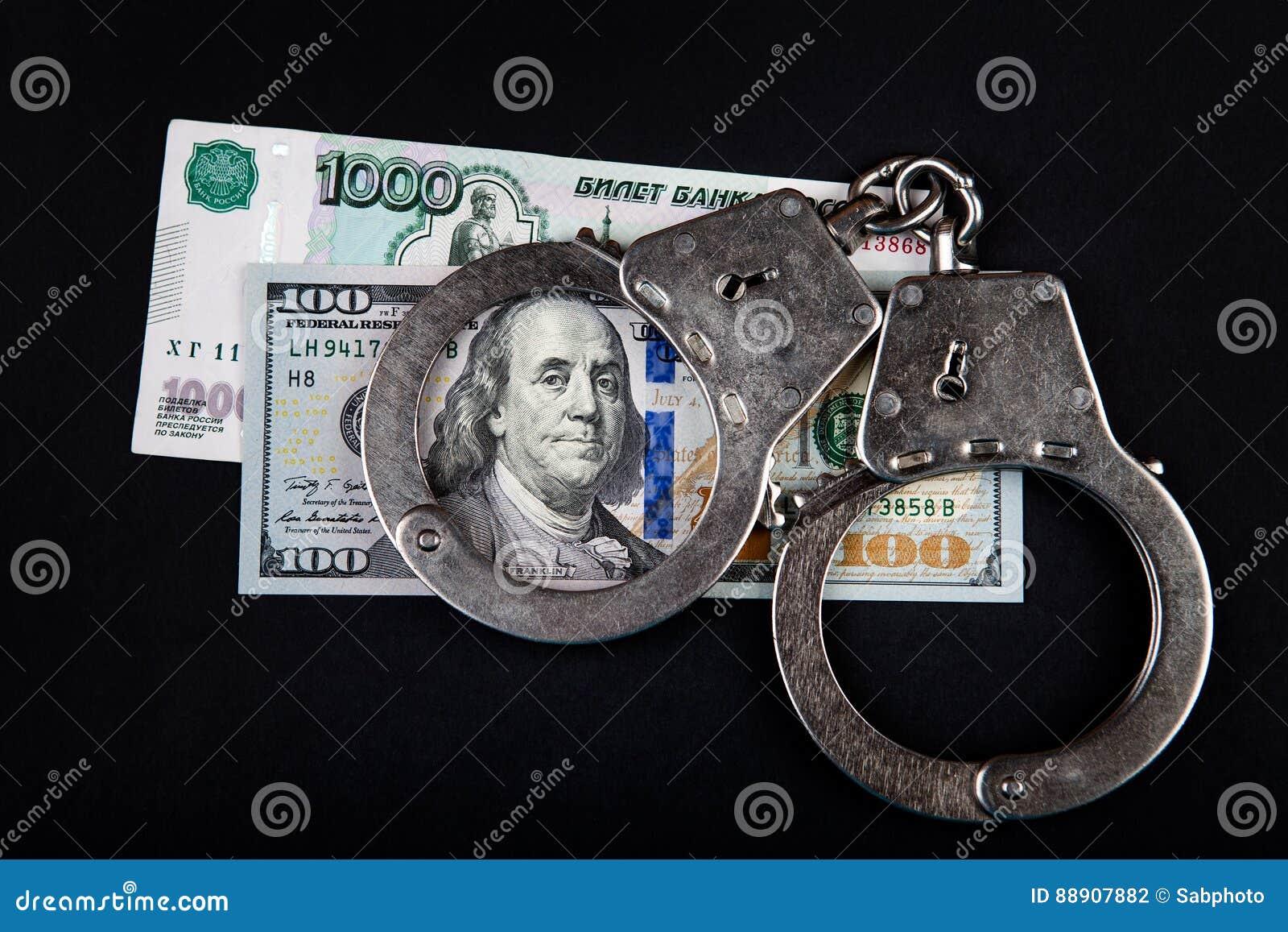 Russische Währung und Dollar