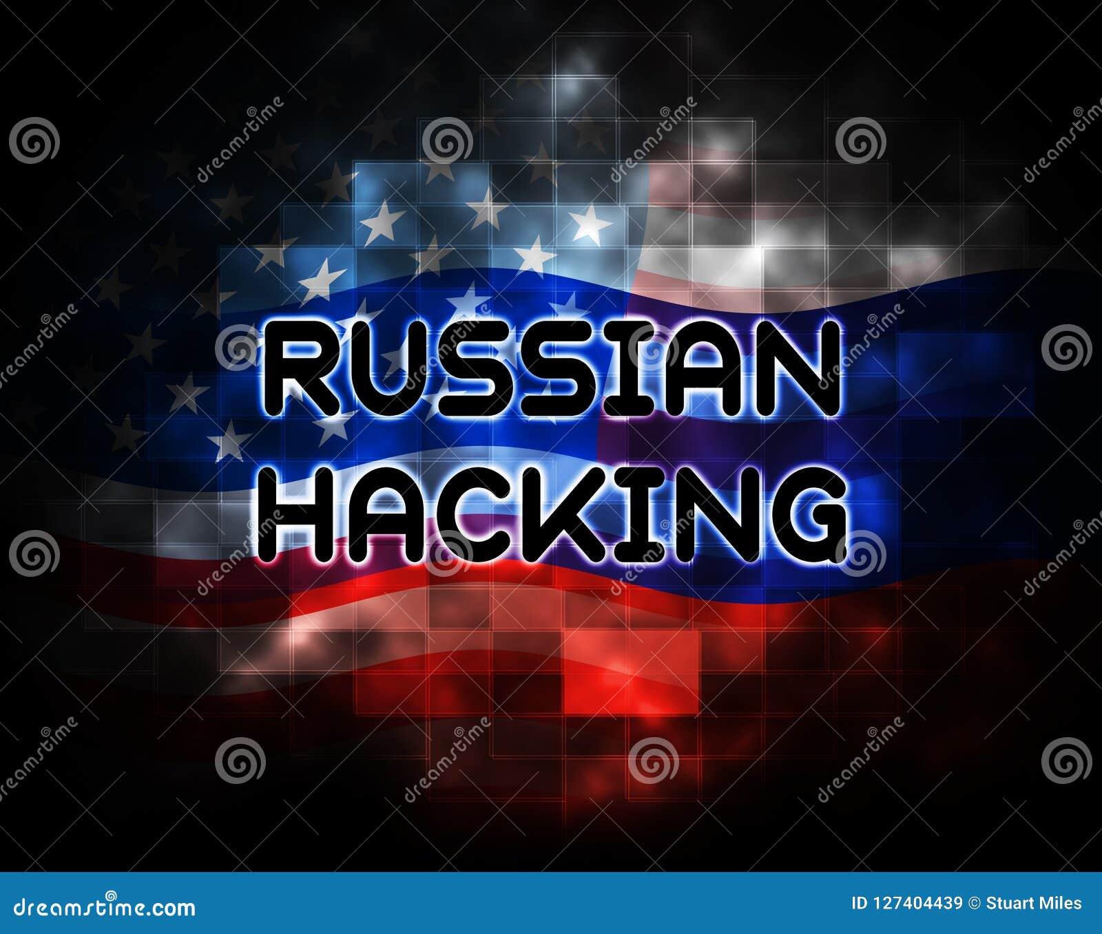 Russische zerhackende Wahl-Angriffs-Alarm-2d Illustration