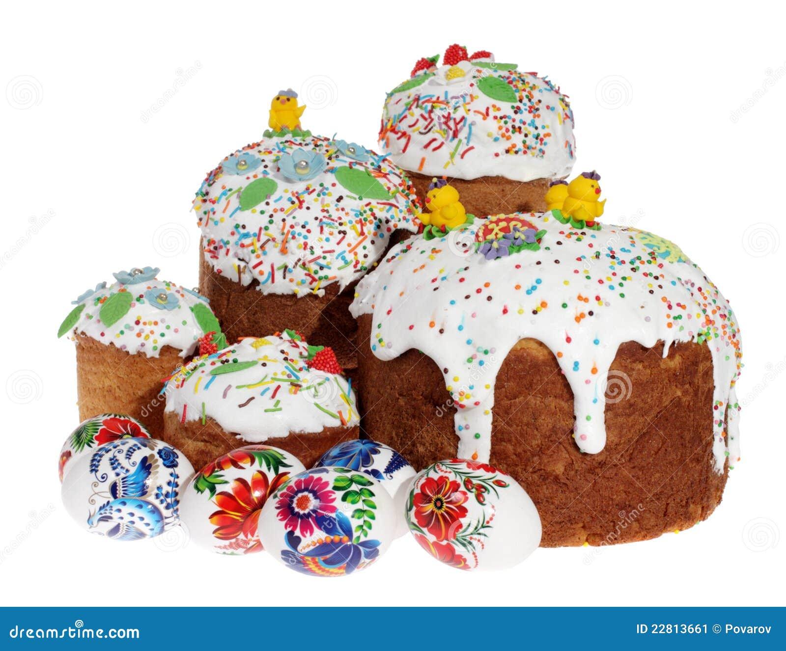 russischer ostern kuchen und bunte ostereier stockbild bild 22813661. Black Bedroom Furniture Sets. Home Design Ideas