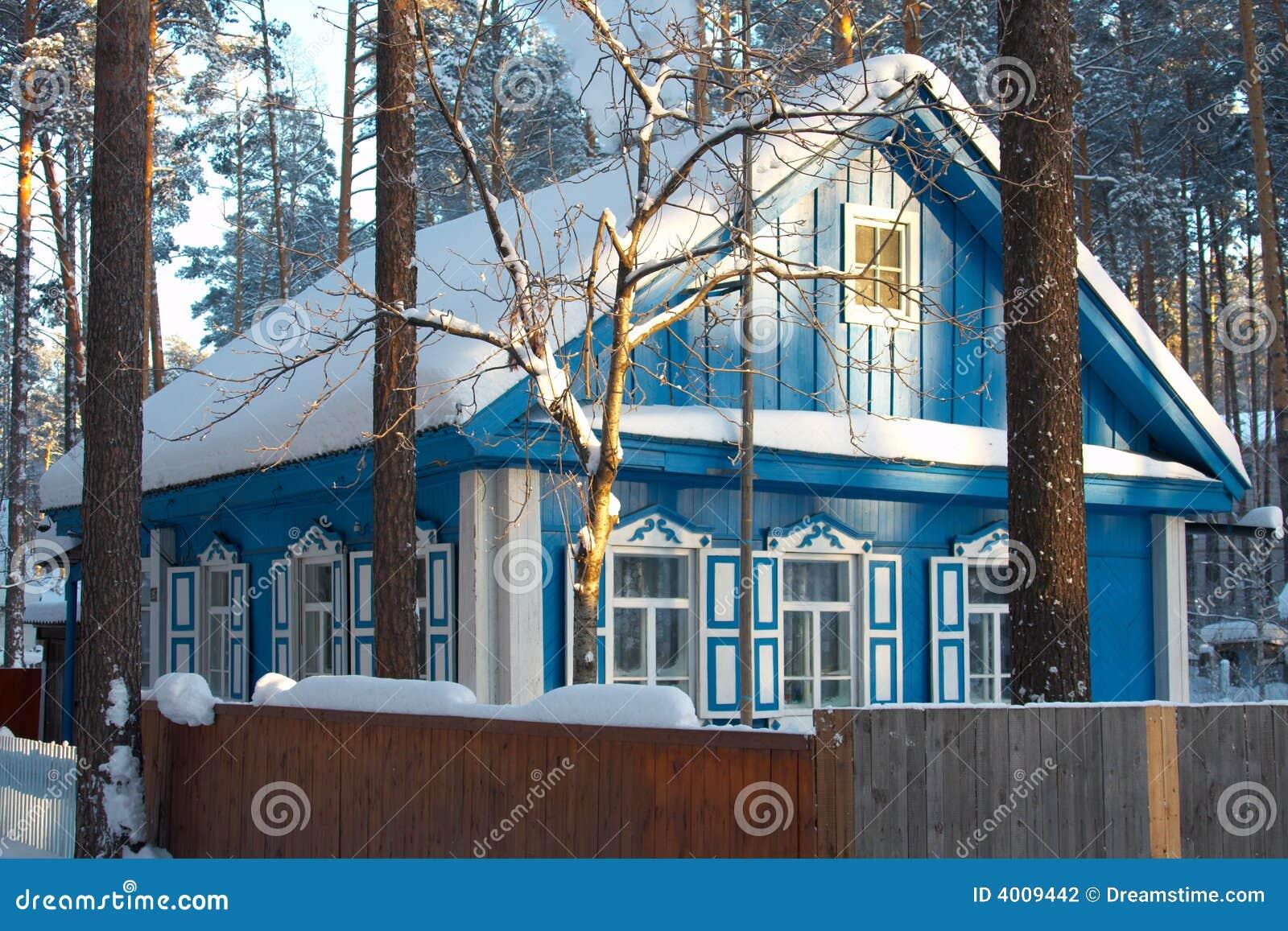 russisches dorf sibirien kalter winter stockfoto bild. Black Bedroom Furniture Sets. Home Design Ideas