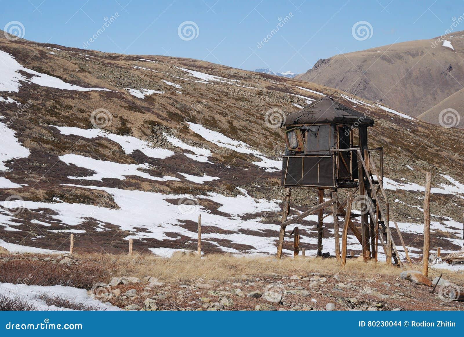 Russisches Gefängnis, Gefängnis, Altai, Stacheldraht Stockfoto ...