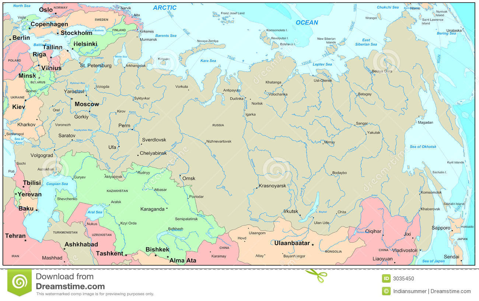 Karte Russland.Russland Karte Stock Abbildung Illustration Von Nave 3035450