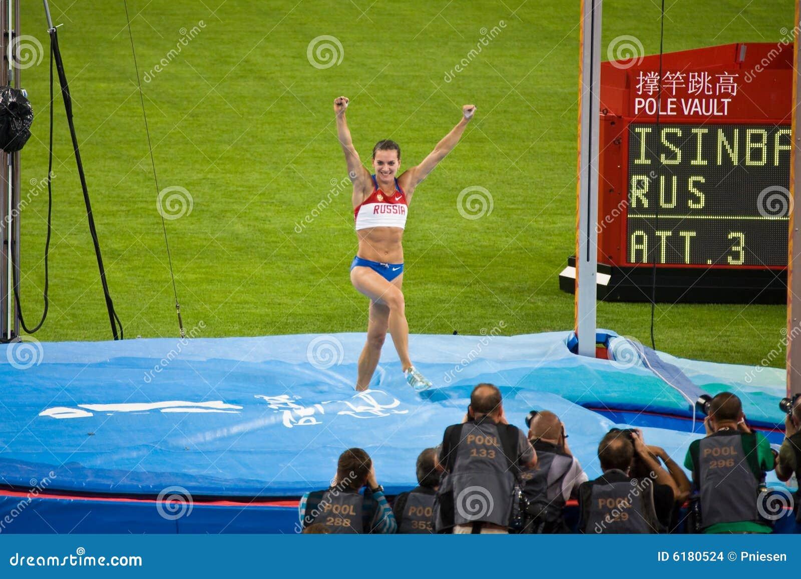 Russlands Gewinn-Stabhochsprung Yelena-Isinbayeva