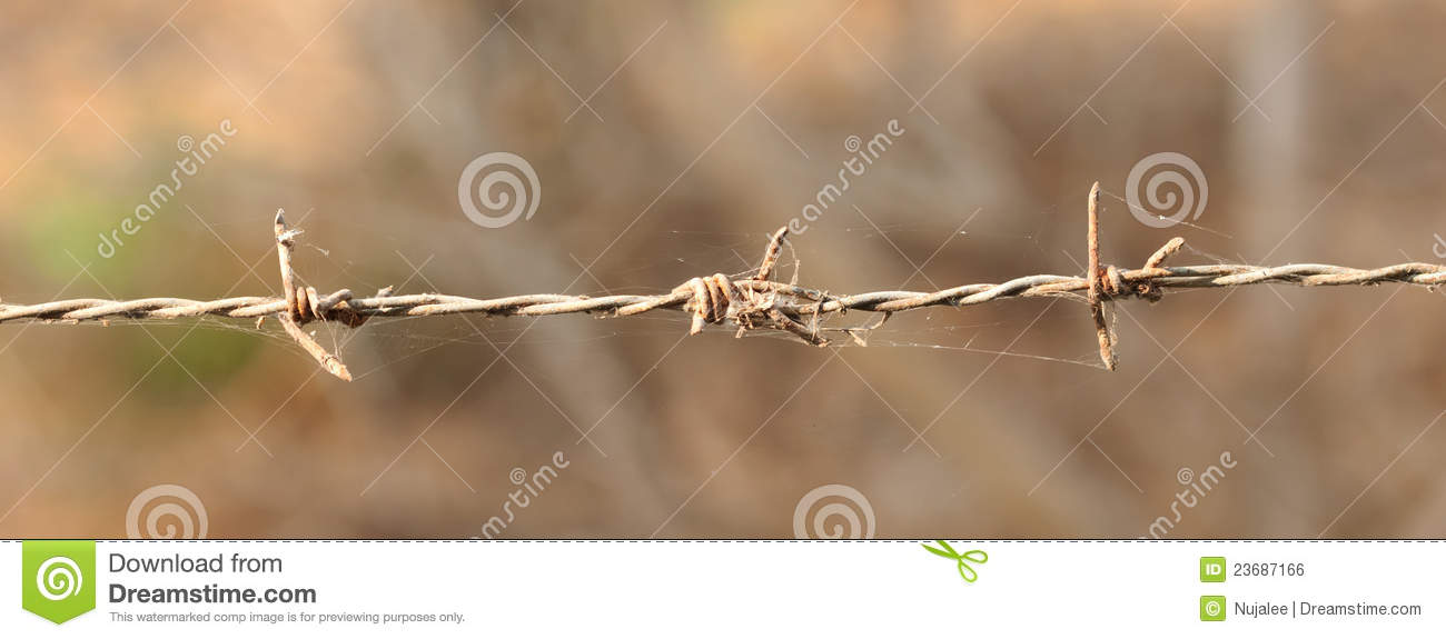 Rust barbed wire royalty free stock image