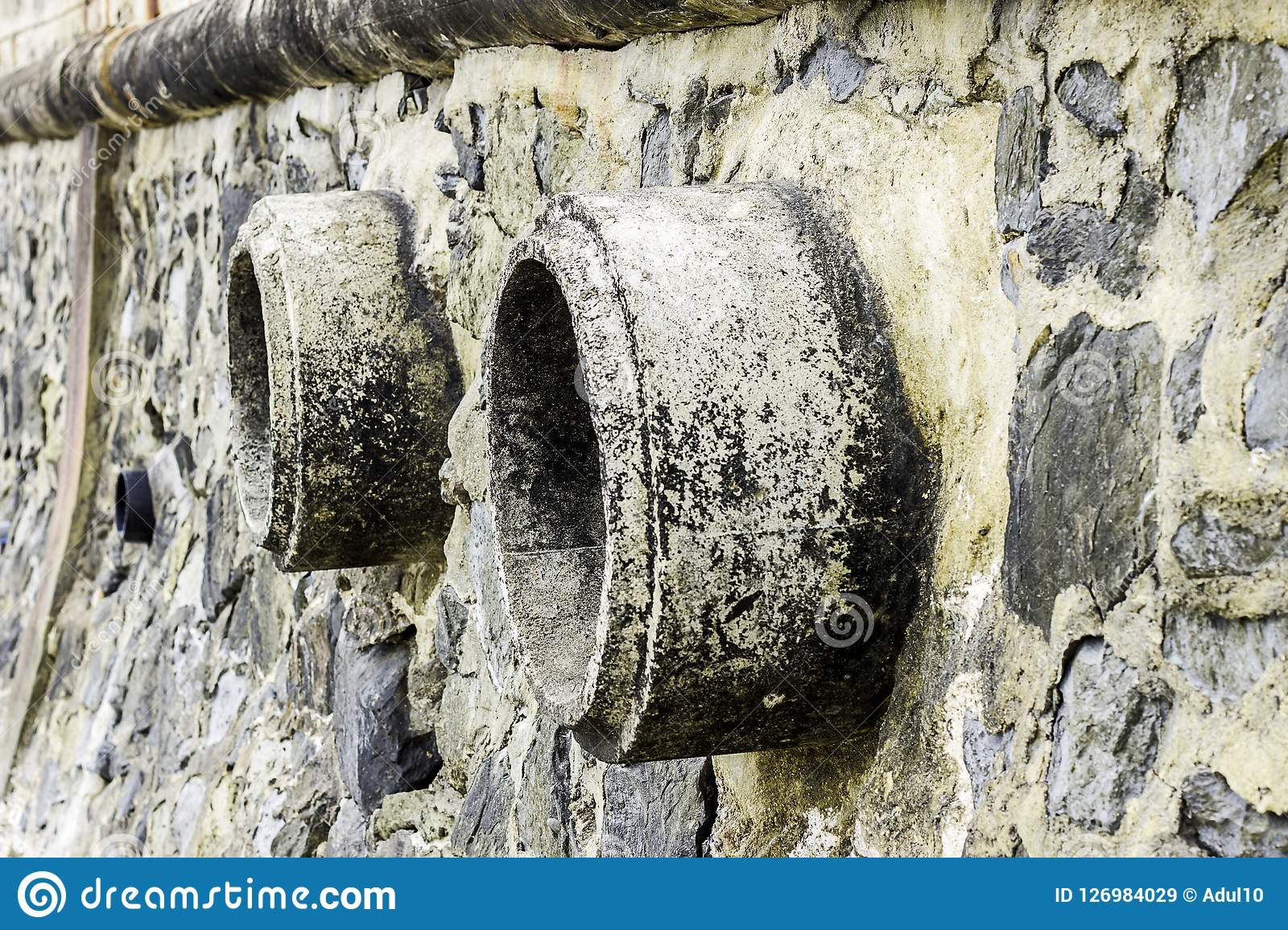 Rust And Corrosion In The Pipe And Metal Skin Corrosion Of