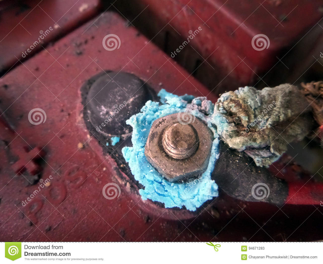 Rust And Dregs Hang And Damege Battery Stock Image Image Of Rust Battery 94671283
