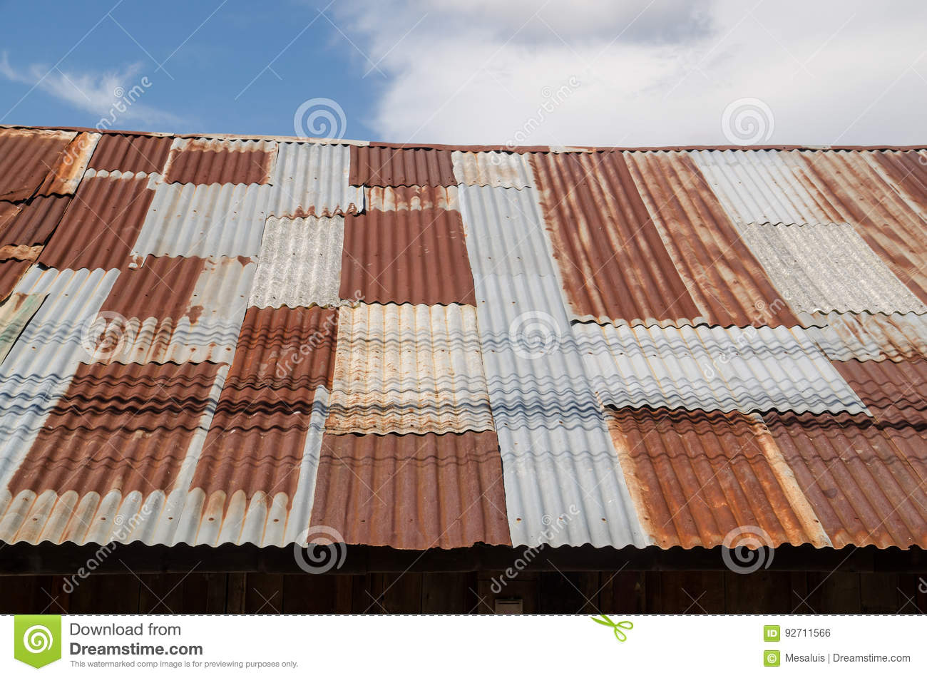 Galvanized Iron Roof Royalty Free Stock Photography
