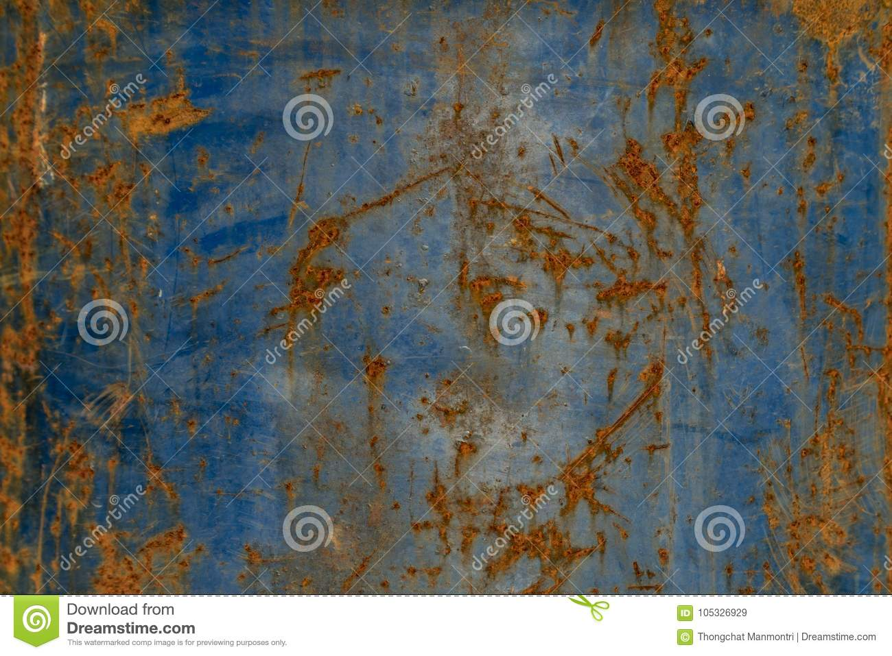 Rust On Old Steel  Blue Steel Oxide Texture Stock Image - Image of