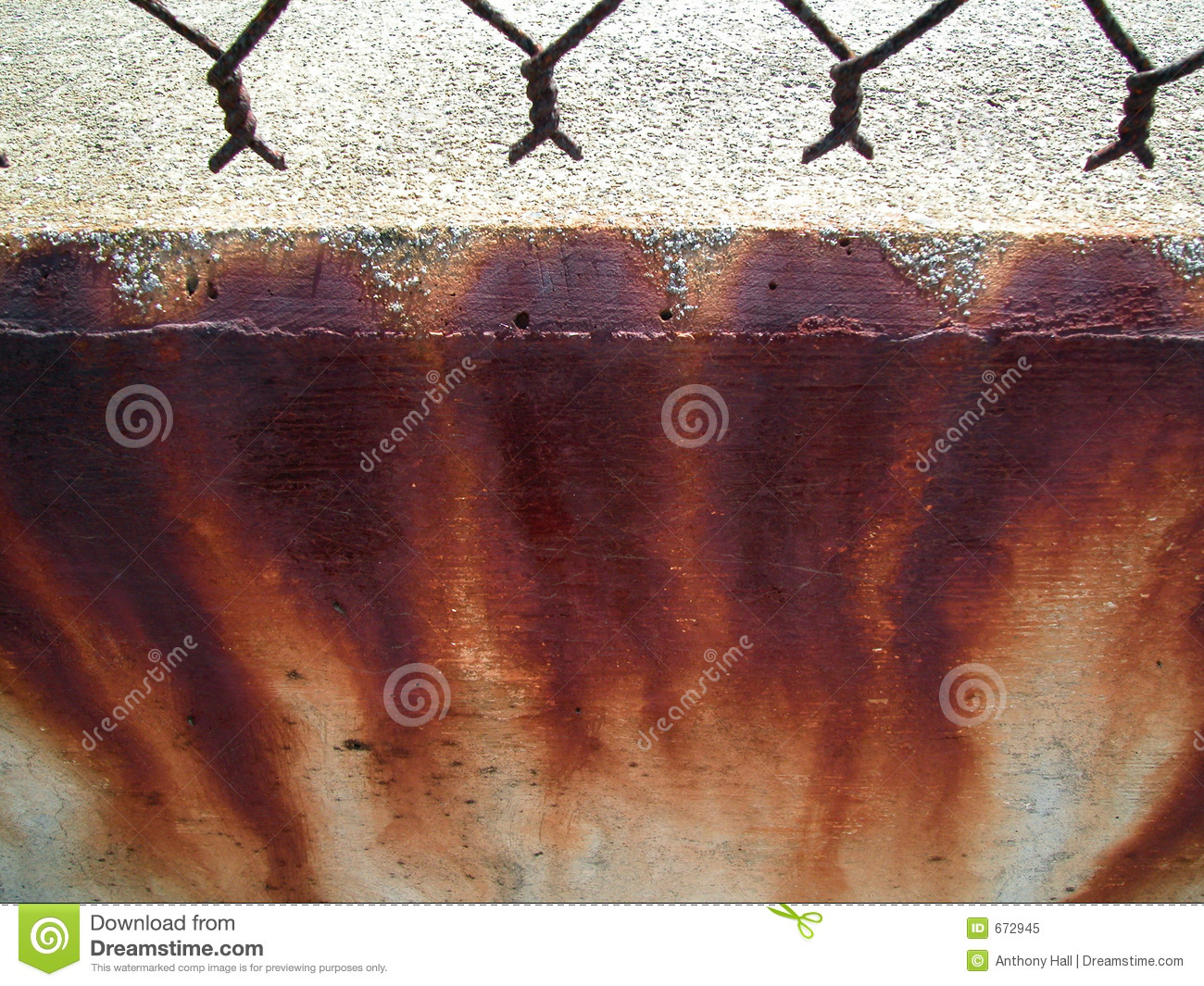 Rust Stains On Concrete Stock Image Image Of Corrosion