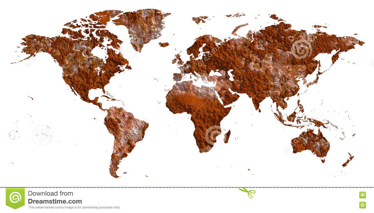 Flat Earth Map Download.Rust World Map Flat Earth Stock Photo Illustration Of Death 70918802