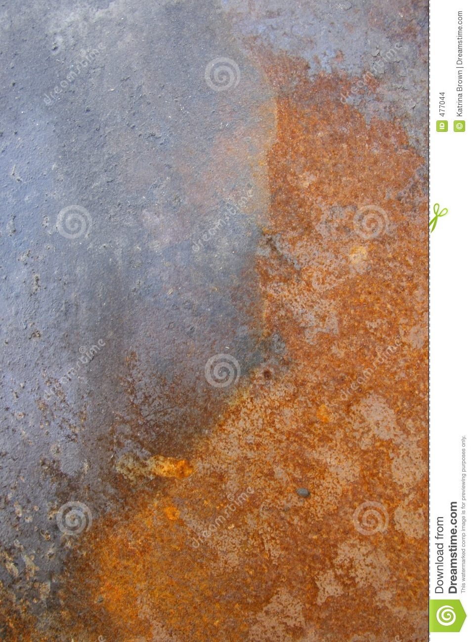 Rusted Caustic Metal With Peeling Paint Stock Photo